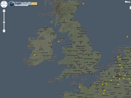 BA testing filghts over Ireland 20 April, 20;29 hours