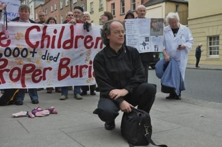 Rally at D�il E�reann for the 'Lost Children' in Canada