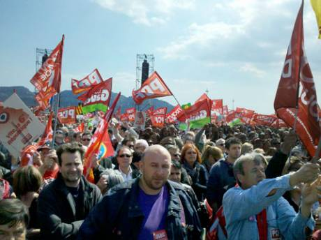 The demonstration in Marseille