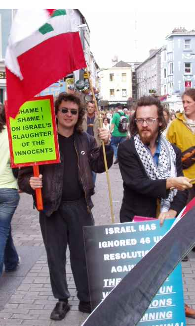 Jonathan, a Labour Party activist with Kieran Davies, the noted street busker & playwright.