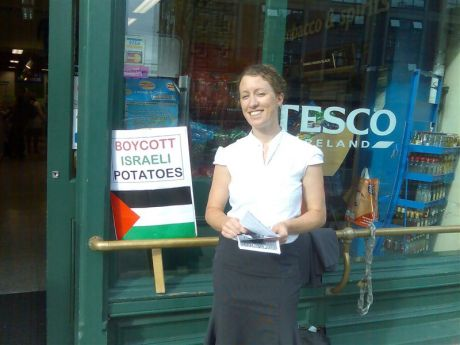 IPSC activist Elaine at the picket