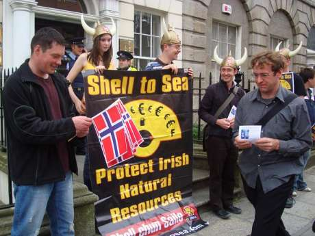 Protest at the Norwegian Embassy, Dublin