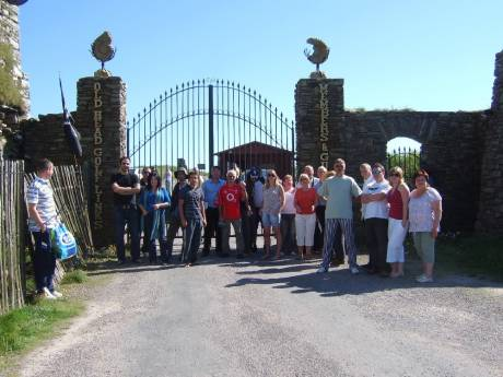 Free the Old Head of Kinsale! Protesters at locked gates