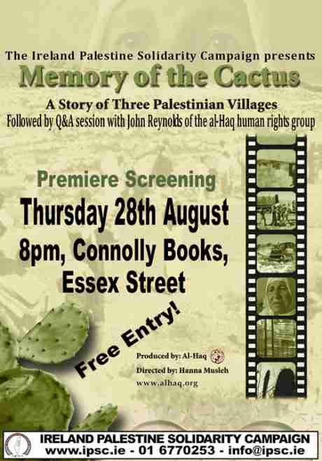 Memory of the Cactus - A film by al-Haq