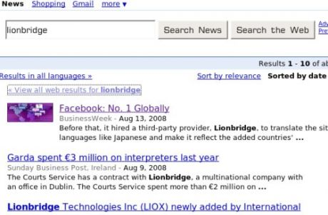 Google News. Already gone.