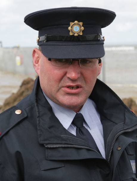 Garda Inspector Martin Byrne, in charge of Shell 'beach occupations / operations'.