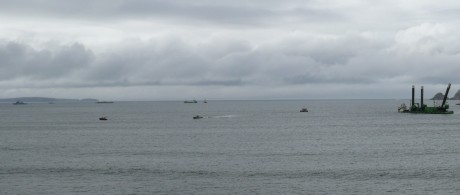 Like an invasion force, the Shell Armada array across Broadhaven Bay