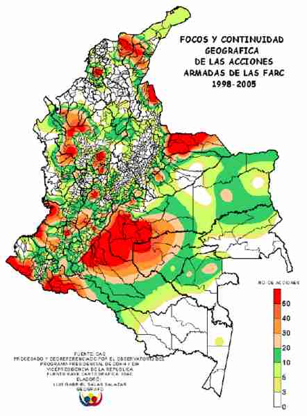 1998 - 2005 gives an idea of how FARC was important. Now it's not.