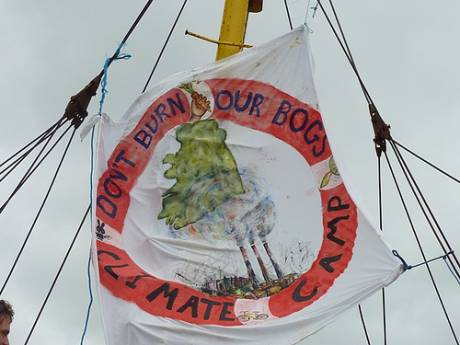 Don't Burn our Bogs! - Climate Camp is the life buoy which can save our bogs and planet