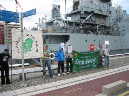 RSF and 32csm picket on HMS Mersey , Wed 19 August '09 , Dublin.