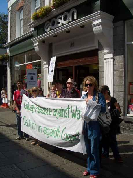 GAAW Protestors in Galway's Shop St