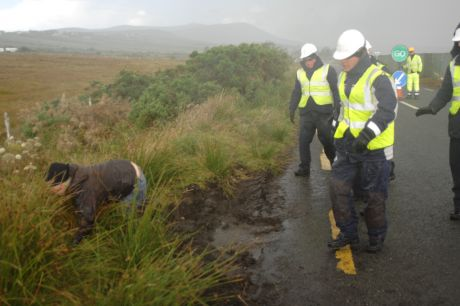 Yet they push people in the ditches as if they're trained by an garda siochana
