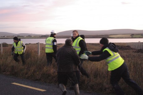IRMS assaulting people on the public road