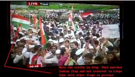 Screen shot 1 from video showing Indian flags