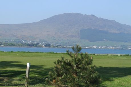 Slieve Foye from 12th fairway, Greenore GC