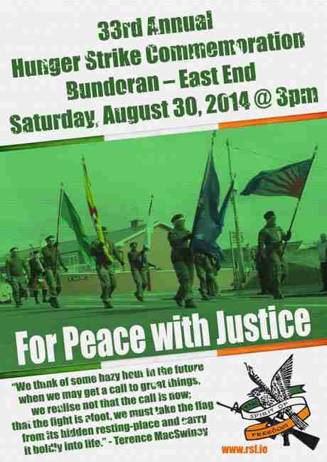 Saturday, 30th August 2014, 3pm , East End, Bundoran, Donegal.