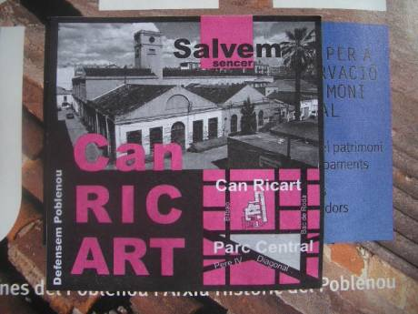 salvem can ricart sticker in barrio