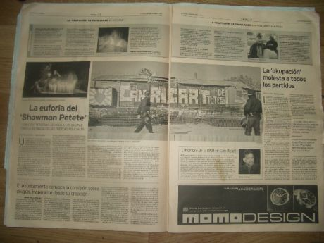 Makabra occupation : third and fourth page of la Vanguard (Mon  4 dec 06)