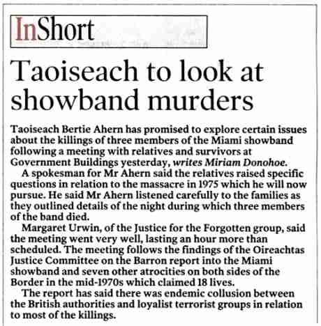 In short, this is not the sort of story the Irish Times would want to upset its readers with (Dec 1st 06)