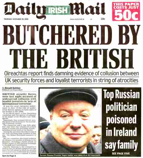 The Mail leads the attack on British terrorism Nov 30 2006