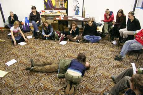 First aid training: the space has recently also hosted training in Photoshop, media skills, permaculture, jam-making... and much more