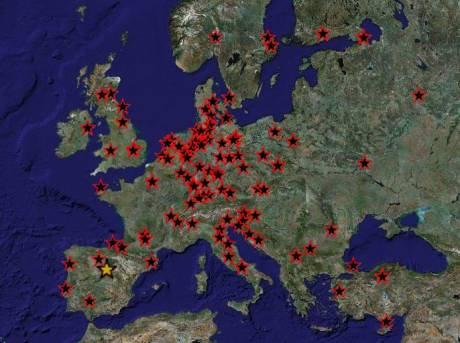 World Map of protests in solidarity with the Greek uprising