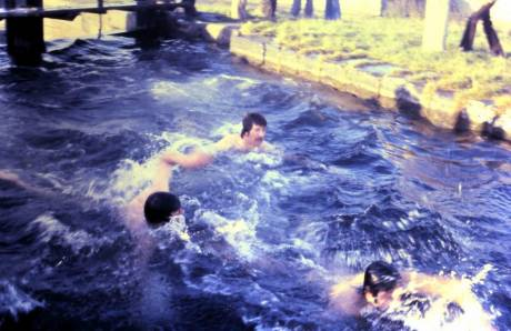 Christmas Swim , 3rd Lough , Inchicore , 1979 : we probably (!) won't have the sunshine, but no matter !