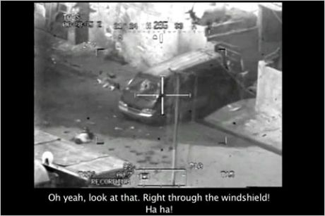 Flashback to the Wikileaks warlogs where US Apache pilots blast people out of existence