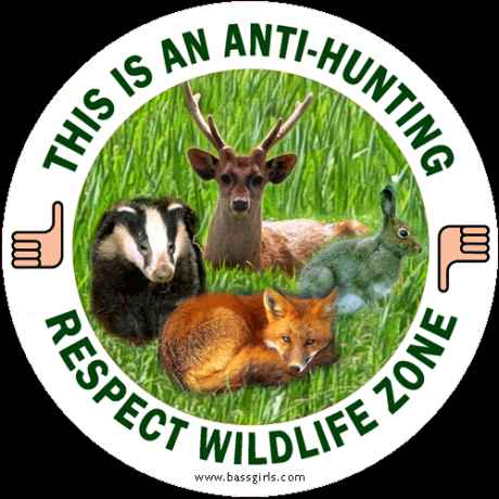 Badge urging protection of wildlife