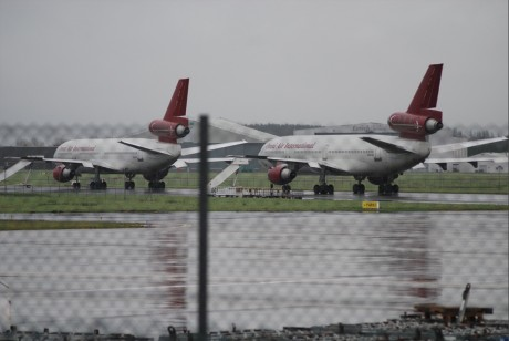 Two DC 10 troop carrier warplanes at Shannon 30 Dec 2011