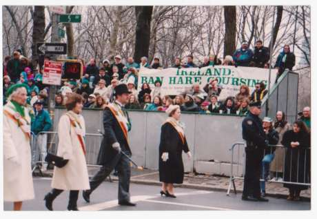 "Demo at NY St Patrick'sDay parade 1992...many similar protests planned to coincide with ""The Gathering"""