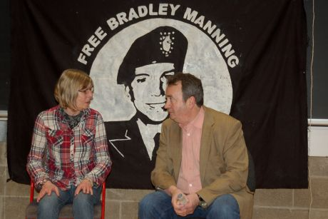 Chelsea's Mum Susan Manning with Gerry Conlon of the Guildford Four