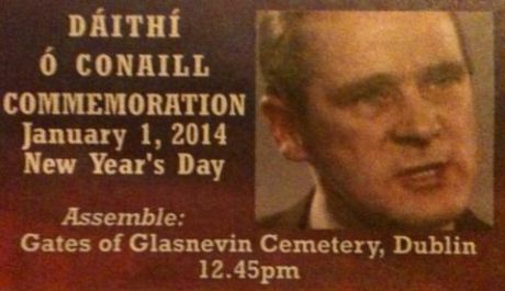 Glasnevin Cemetery, Dublin, Wednesday 1st January 2014 , 12.45pm.