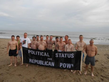 The Wexford Boys - 14 sponsored swimmers , for Cabhair, 25th December 2013.