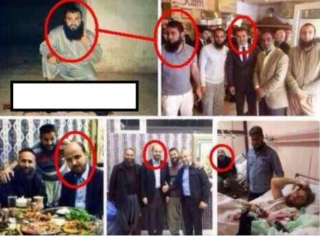 Bilal Erdogan with leaders of ISIS and Al Nursa terrorists groups
