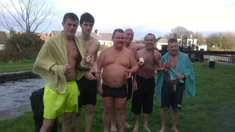 The six Cabhair swimmers and their little extra bonus!