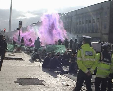 Purple Smoke bomb