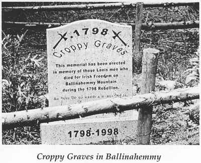Croppy graves from 1798
