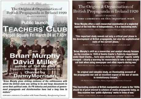 Book Launch Friday March 24 Teachers' Club Dublin - All Welcome