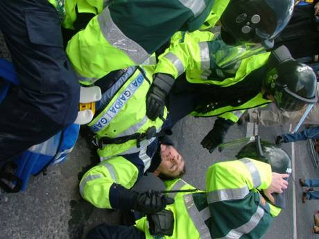 More Gardai Go Down Injured