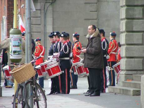One of the Marching Bands with the Orange March