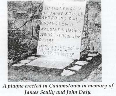 1798 memorial to Scully and Daly