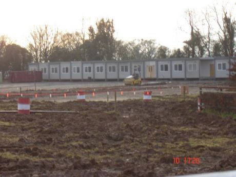 Builders compound at Roestown