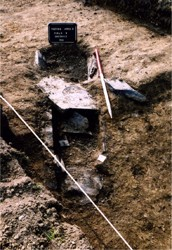 Long cist burial Collierstown 1