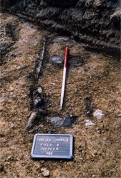 Stone lined cist burial Collierstown 1