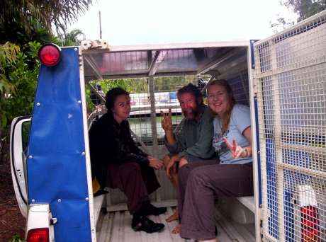 Adele, Jim & Donna on the Way to Berrimah Prison, Darwin