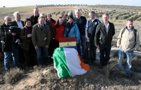 The Irish contingent near where Donnelly fell