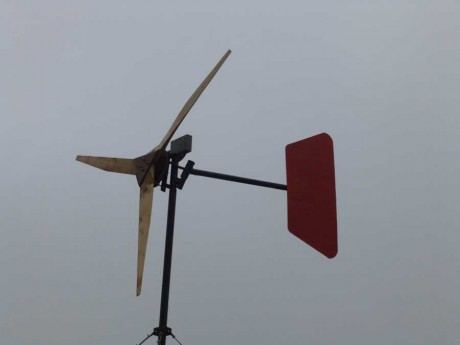 A community built wind turbine
