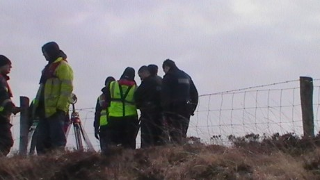 Shell workers talking to the gardaí