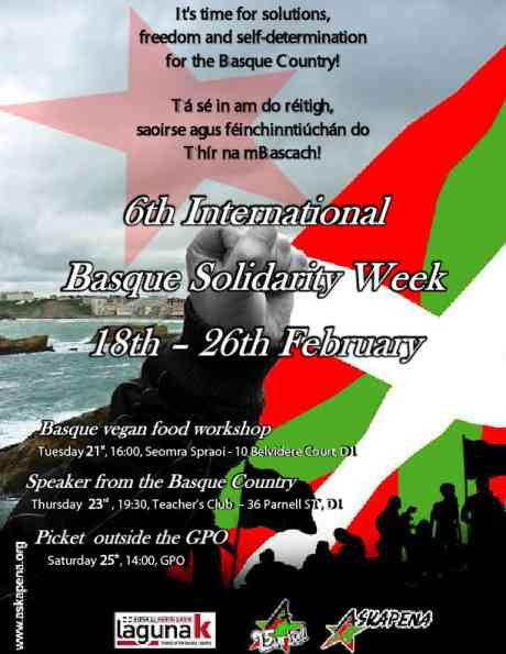 Poster for Basque Solidarity week 2012